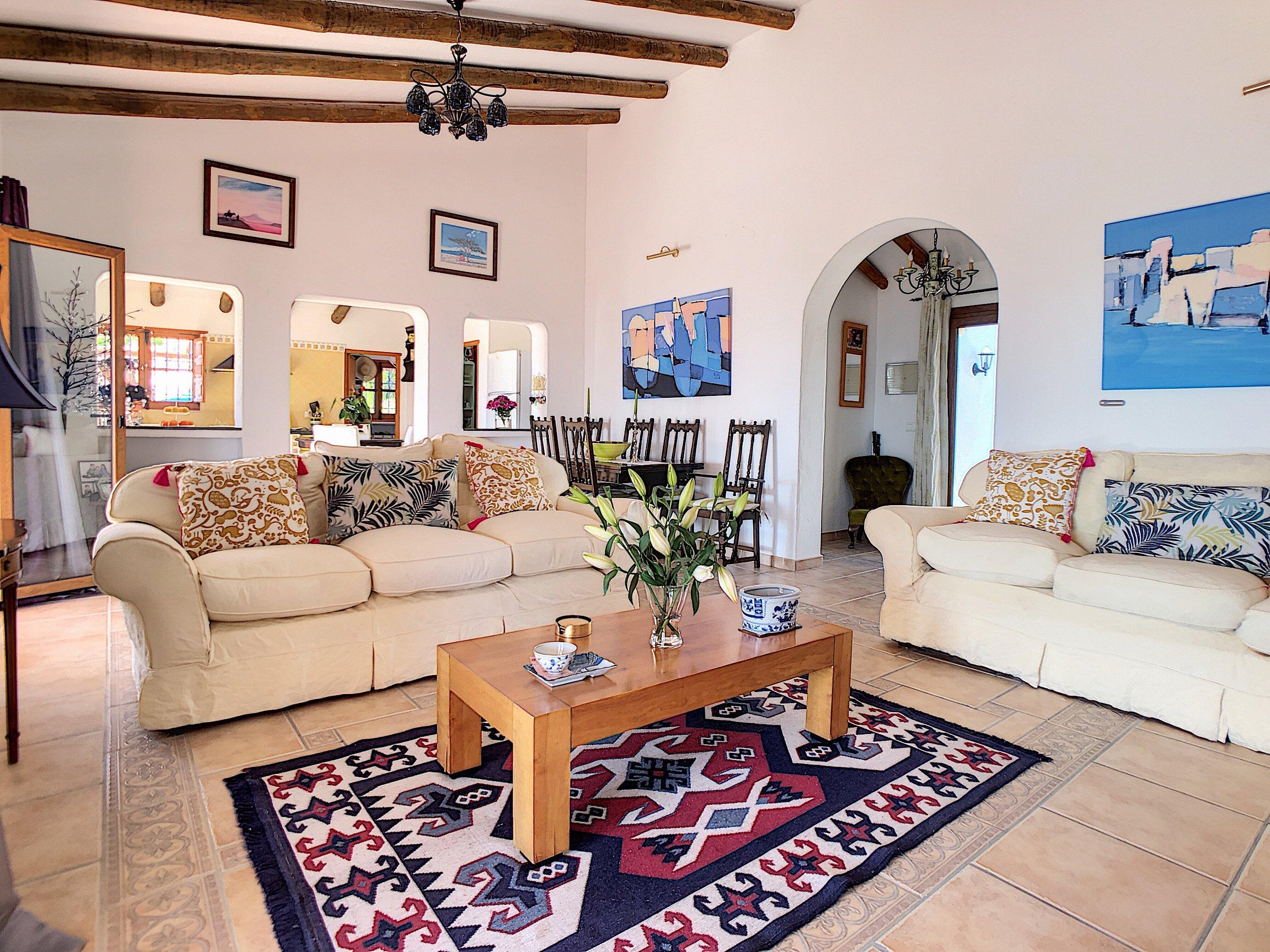 Living Room Villa in Canillas